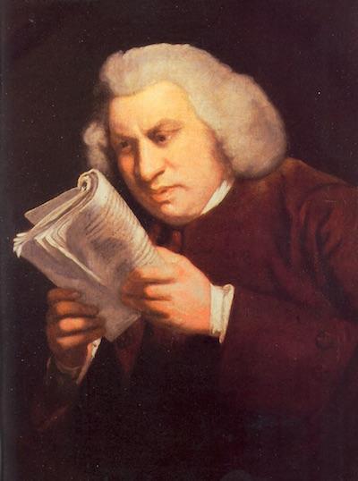 Reaidng Samuel Johnson by Joshua Reynolds