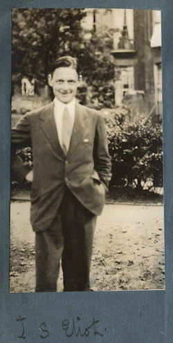 NPG Ax142996; T.S. Eliot by Lady Ottoline Morrell