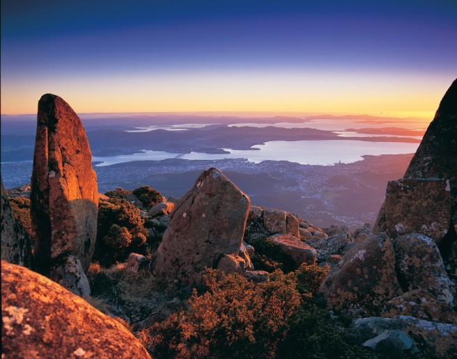 Hobart from Mt Wellington