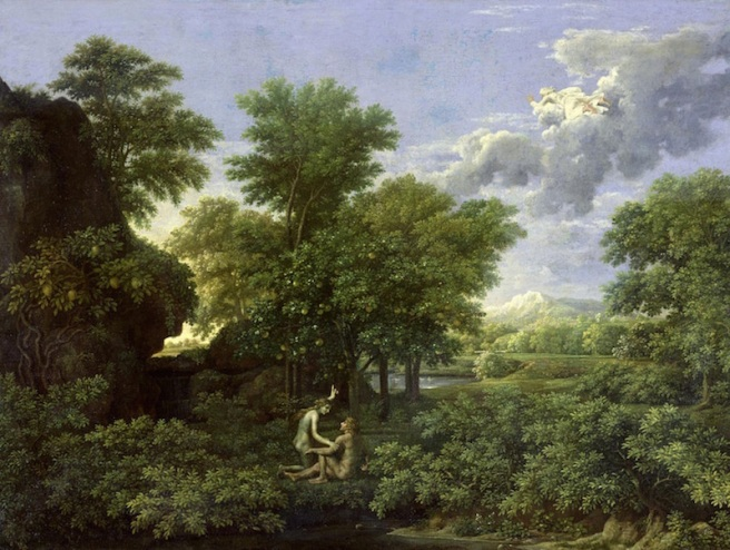 The Garden Of Eden by Nicolas Poussin copy